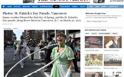 Vancouver Sun  2011 – St. Patrick's Day Parade